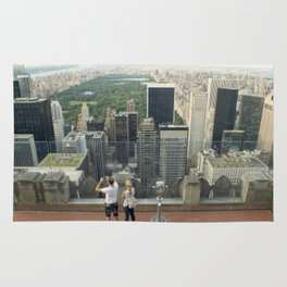 Central Park view from Rockefeller Center's rooftop Rug