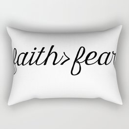 Faith Over Fear Rectangular Pillow