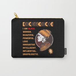 I Am Black Woman Black History Month Carry-All Pouch