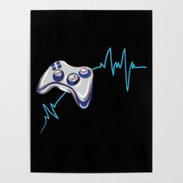 Gamer Heartbeat Poster