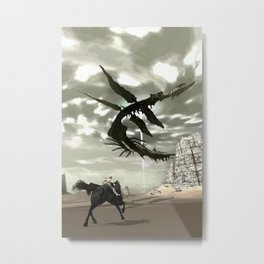 Flying Leviathan Metal Print