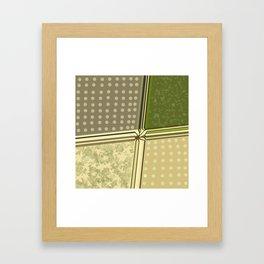 Graphic fields Framed Art Print