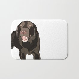 Chocolate Lab Bath Mat