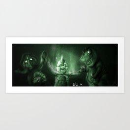 Barney & Friends Nightvison Art Print