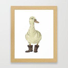 duck in boots  Framed Art Print