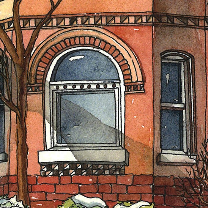 Victorian House in The Avenues Leggings