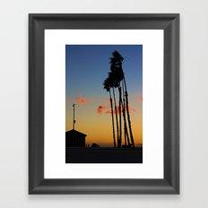 Long Beach Hut Framed Art Print
