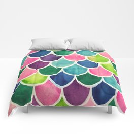 This Mermaid Life Bright by Andrea Comforters