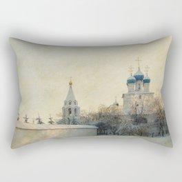 Church in Winter Estate Rectangular Pillow