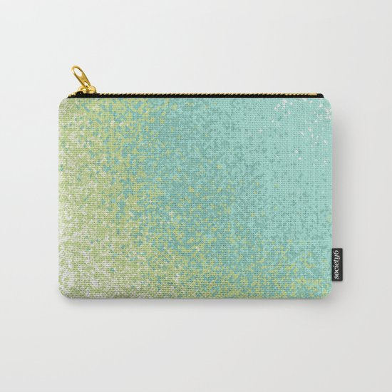 Abstract Green Blend Carry-All Pouch