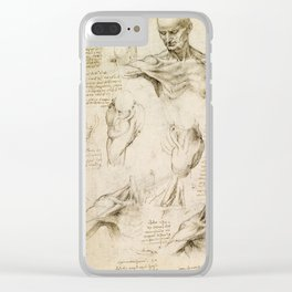 Leonardo da Vinci - Anatomy of the shoulder and neck Clear iPhone Case