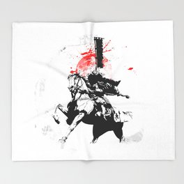 Samurai Japan Throw Blanket