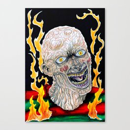 Fred Krueger On Fire Canvas Print