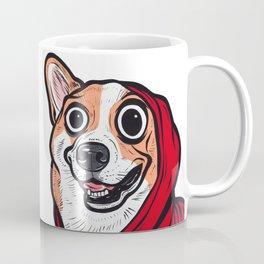 Corgi Red Hoodie Coffee Mug