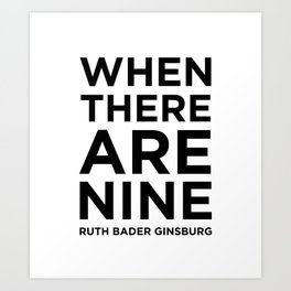 When There Are Nine - Ruth Art Print