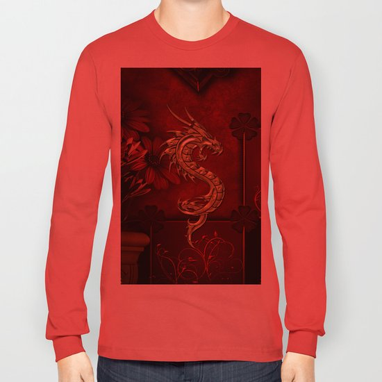 11c73c902 Wonderful golden chinese dragon Long Sleeve T-shirt by nicky2342 | Society6