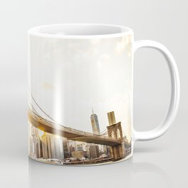 Brooklyn bridge in New York at sunset Coffee Mug