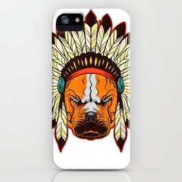 Native American Pride T-Shirt Tribal Dog Indian Headpiece iPhone Case