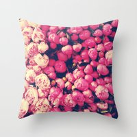 peonies Throw Pillows featuring Peonies by Sasha H