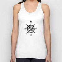 compass Tank Tops featuring COMPASS by MrWhite