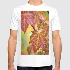 Maple Leaves Mens Fitted Tee MEDIUM White