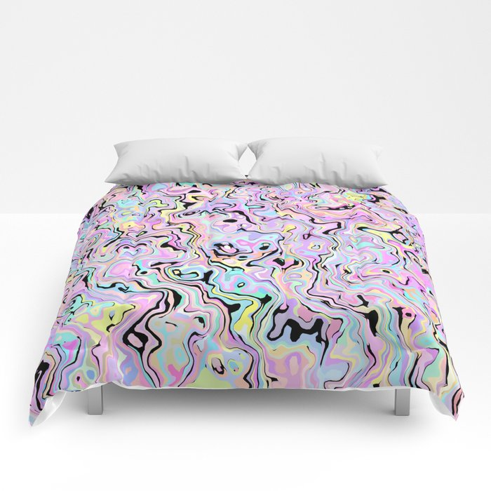 Marbled Pastel Comforters