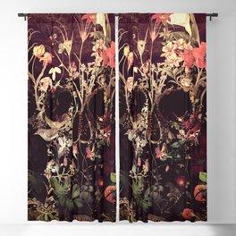Bloom Skull Blackout Curtain