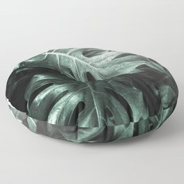 Monstera leaves, Palm Leaf Floor Pillow