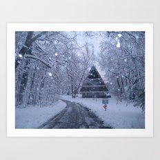 I Long for Snow Art Print