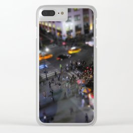 New York City Street Miniature Clear iPhone Case