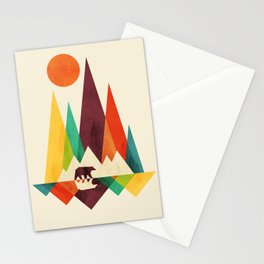 Bear In Whimsical Wild Stationery Cards