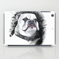 bulldog iPad Cases featuring Bulldog by kitara