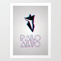 palo alto Art Prints featuring Palo Alto 3D by Palo Alto