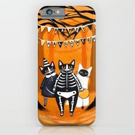 Happy Halloween Cats iPhone Case