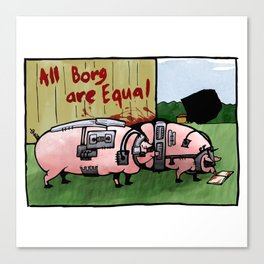 Borg Pigs Canvas Print