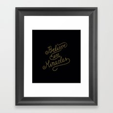 Miracles Gold Framed Art Print
