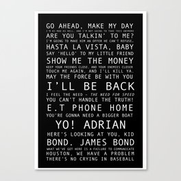 Boys Movie Quote Print  Canvas Print