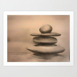 Serenity stones Art Print