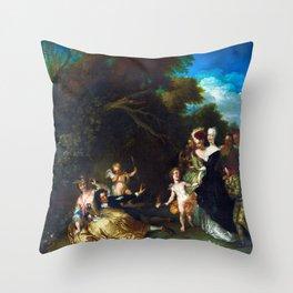 Christian Wilhelm Ernst Dietrich Surprised Throw Pillow