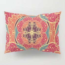 Psycodelic Mandala Pillow Sham
