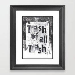 poe-try 5 Framed Art Print
