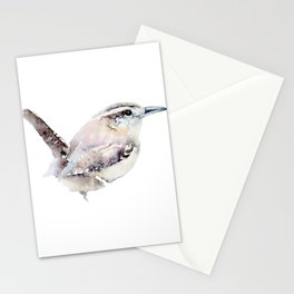 Watercolor Wren Painting Stationery Cards