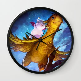 Chocobo & Mogry Wall Clock