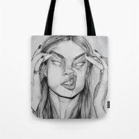cara Tote Bags featuring Cara by David Pérez