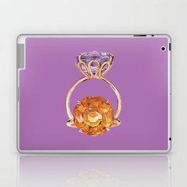 Circles on Purple Laptop & iPad Skin