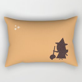 Cute Little Witch Rectangular Pillow