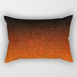 Orange & Black Glitter Gradient Rectangular Pillow