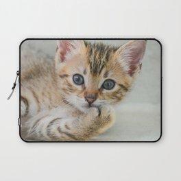 Smirking kitten Laptop Sleeve