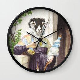 The Sheep Spinner Wall Clock