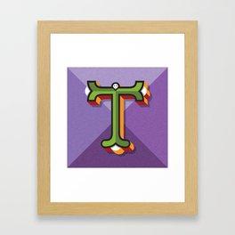 """Typographic Letter """"T"""" Framed Art Print"""